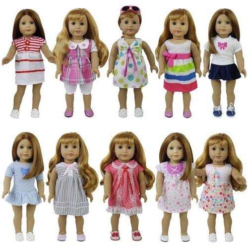 """8 Sets American Girl Baby Alive Clothes Dress Skirt for 14""""-"""