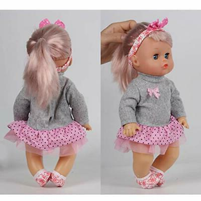 Huang Toys 9 PCS inch Doll Baby with Clothes Lovely Newborn