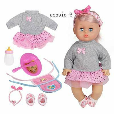 9 pcs 12 inch doll baby