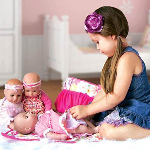 """Adora Baby Princess Vinyl 13"""" Girl Weighted Washable Soft Toy Play Gift Includes"""