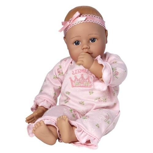 """Adora Princess 13"""" Weighted Soft Toy Gift Eyes Children Includes Bottle"""