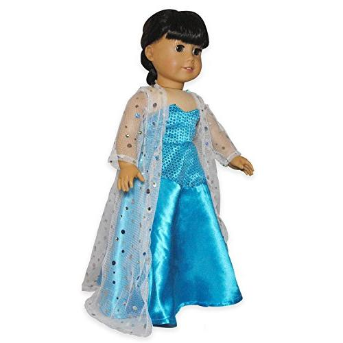 Doll Dress - Queen Elsa Inspired Outfit Fits American Girl D
