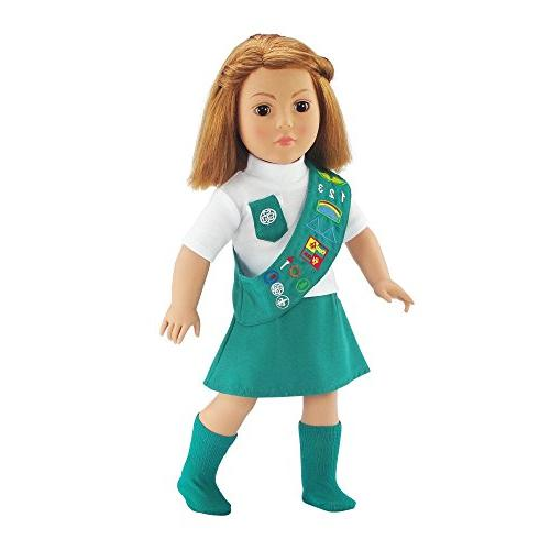 Doll Outfit Similar Junior Scout SOCKS | 18 Dolls Fits Girl Gift-boxed!