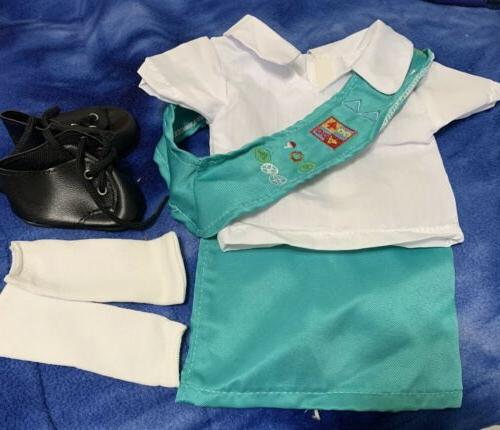 Doll Outfit Similar to Junior Girl Scout with SOCKS | 18 Inc