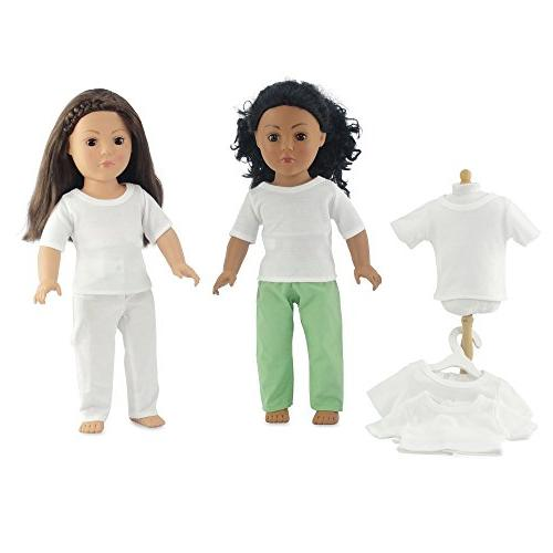 """Emily Rose 18 Doll Fits Dolls Value Plain White 18"""" Outfit Gift-Boxed!"""