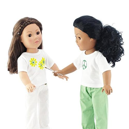 Emily Rose Doll 18 Fits Dolls - Plain T-shirts Outfit
