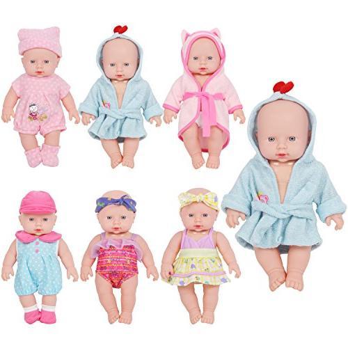 Huang Cheng Toys 12-inch Doll Set of 5 Handmade Lovely Bathr