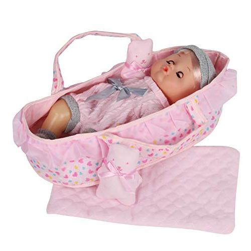 Huang Toys Baby Cradle Sleeping for 12-inch Doll Bedtime Toy