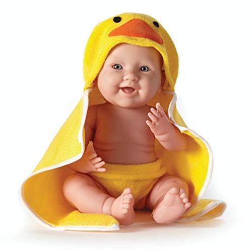 """La Newborn Rubber Ducky by JC Toys - Realistic 17"""" Anatomica"""