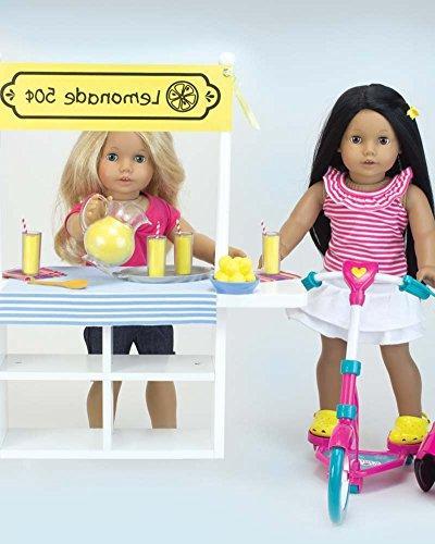 Lemonade Specialty Doll Pitcher, Tray, Lemons, 4 Lemonade 4 & Table For 18 Inch Dolls