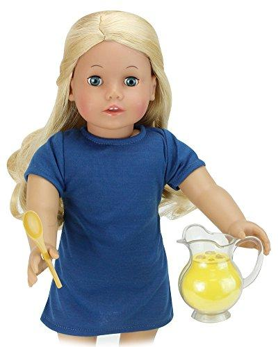 Lemonade Doll Food Play Specialty Includes Doll Doll Serving Tray, Bowl of 4 Lemonade Drinks, Napkins, Serving &