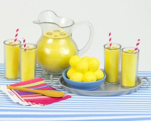Lemonade Specialty Doll Doll Serving Tray, of Lemons, 4 Lemonade Drinks, Napkins, & Table 18