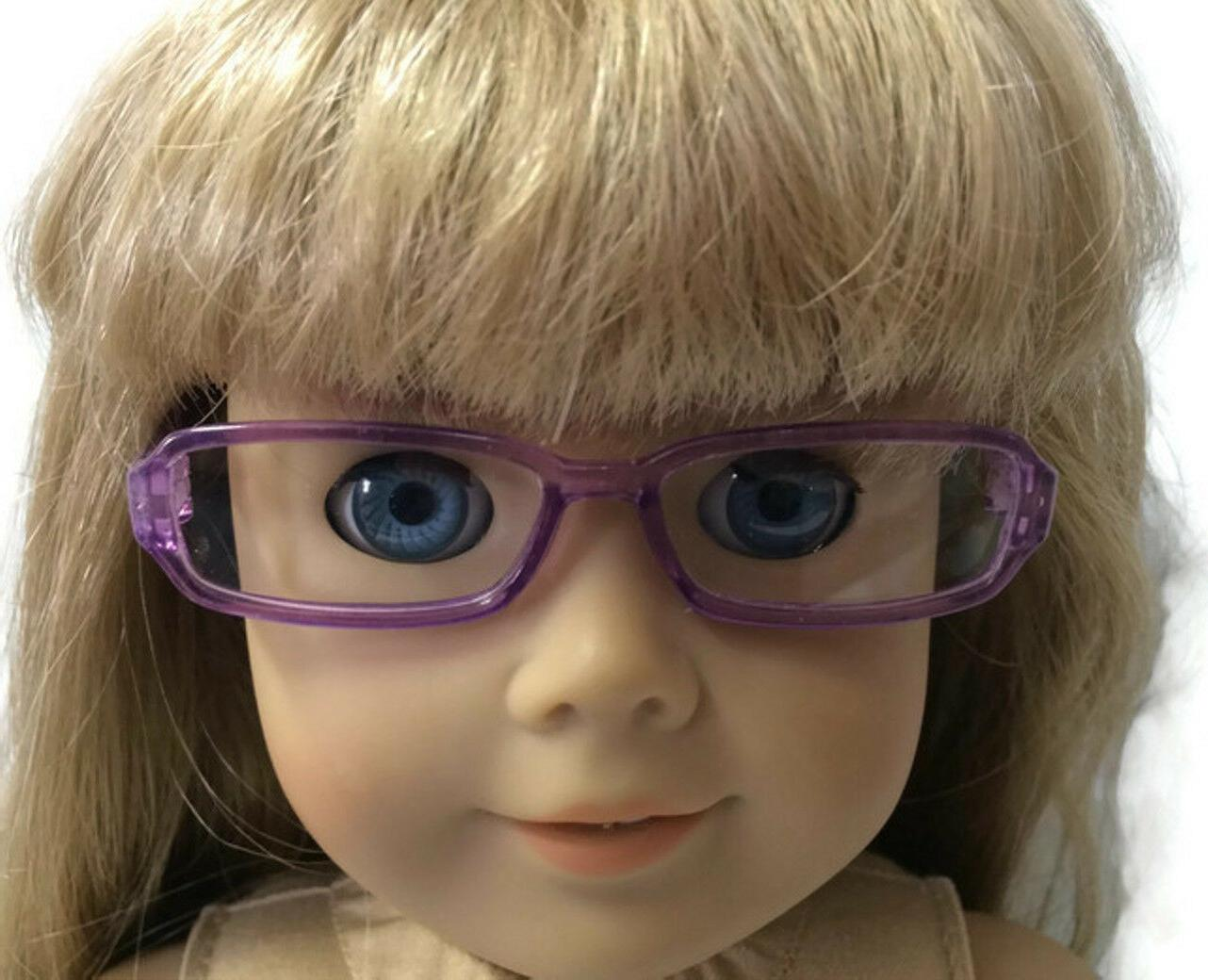 """Purple Rimmed made for 18"""" Girl Doll Clothes"""
