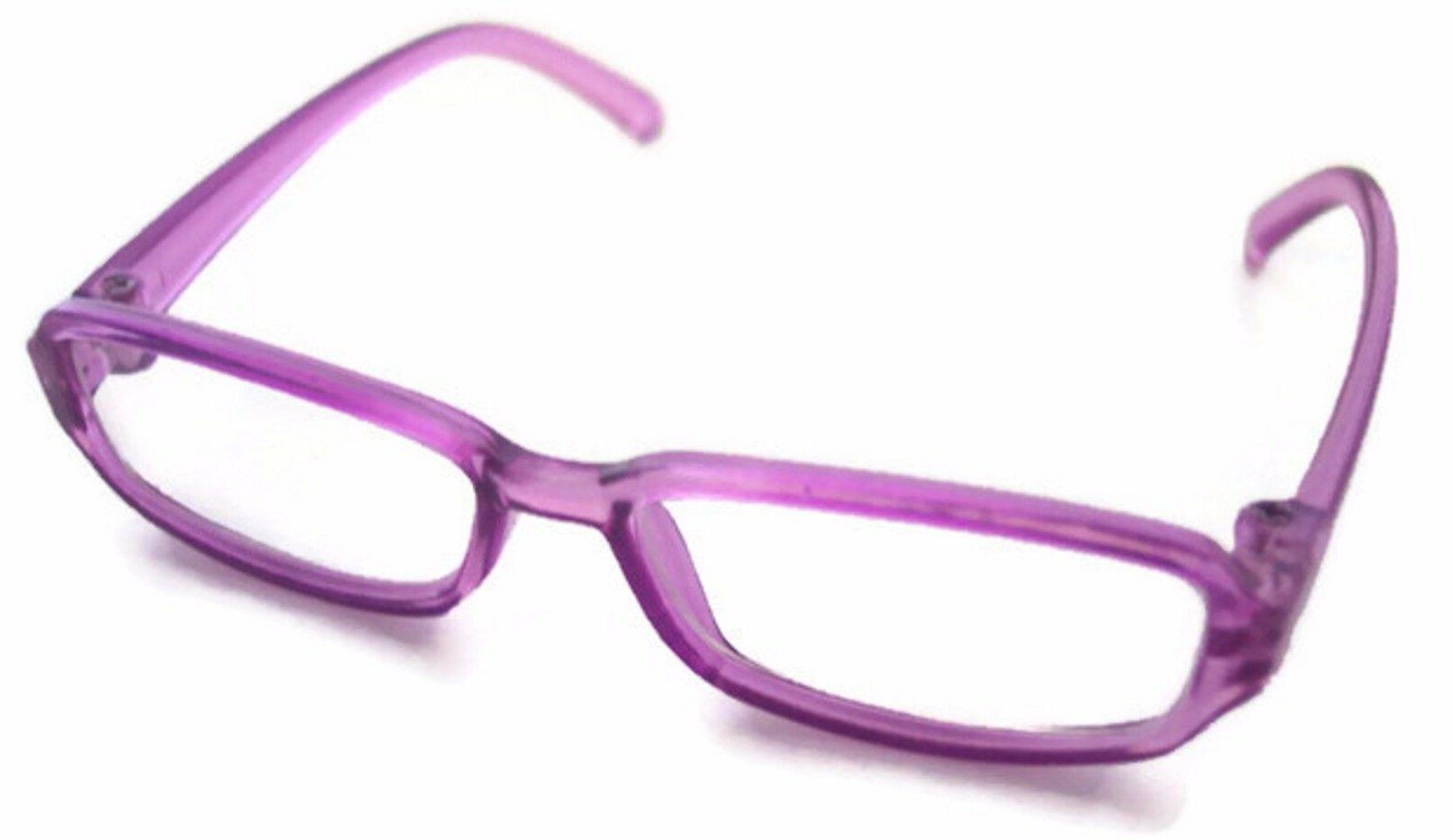 "Purple Rimmed Eye Glasses made for 18"" American Girl Doll Cl"