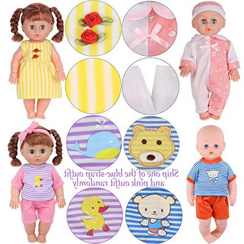 Set of 11-12-13-14 Reborn Alive Clothes Outfits Feeding Bottle Birthday Present
