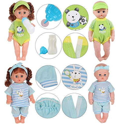 Set 11-12-13-14 Inch Alive Clothes Dress Outfits with Feeding Birthday Xmas