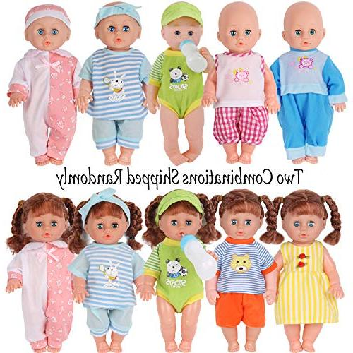 Set of 5 for Alive Doll Clothes Gown Outfits with Birthday Xmas