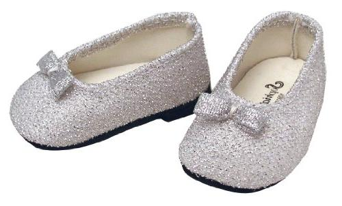18 Inch Doll Glitter Dress Shoes Fits American Girl Dolls