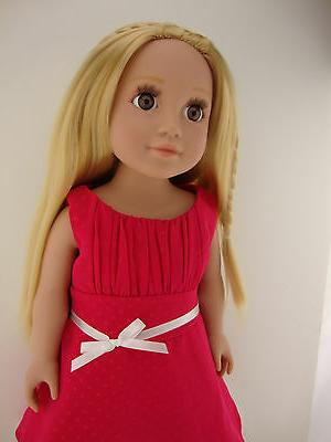 A Sweet Pink Dress 18 Doll Like the American Girl Shoes