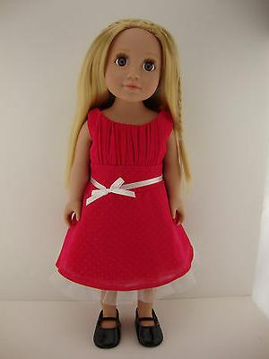 A Sweet Bright Pink Dress for Doll the Girl Dolls Shoes