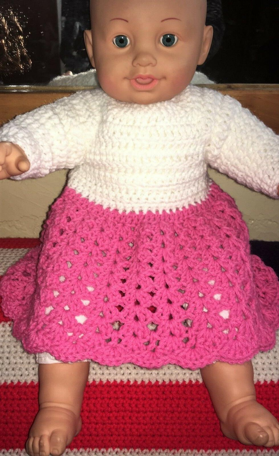 acrylic crochet l s dress preemie or