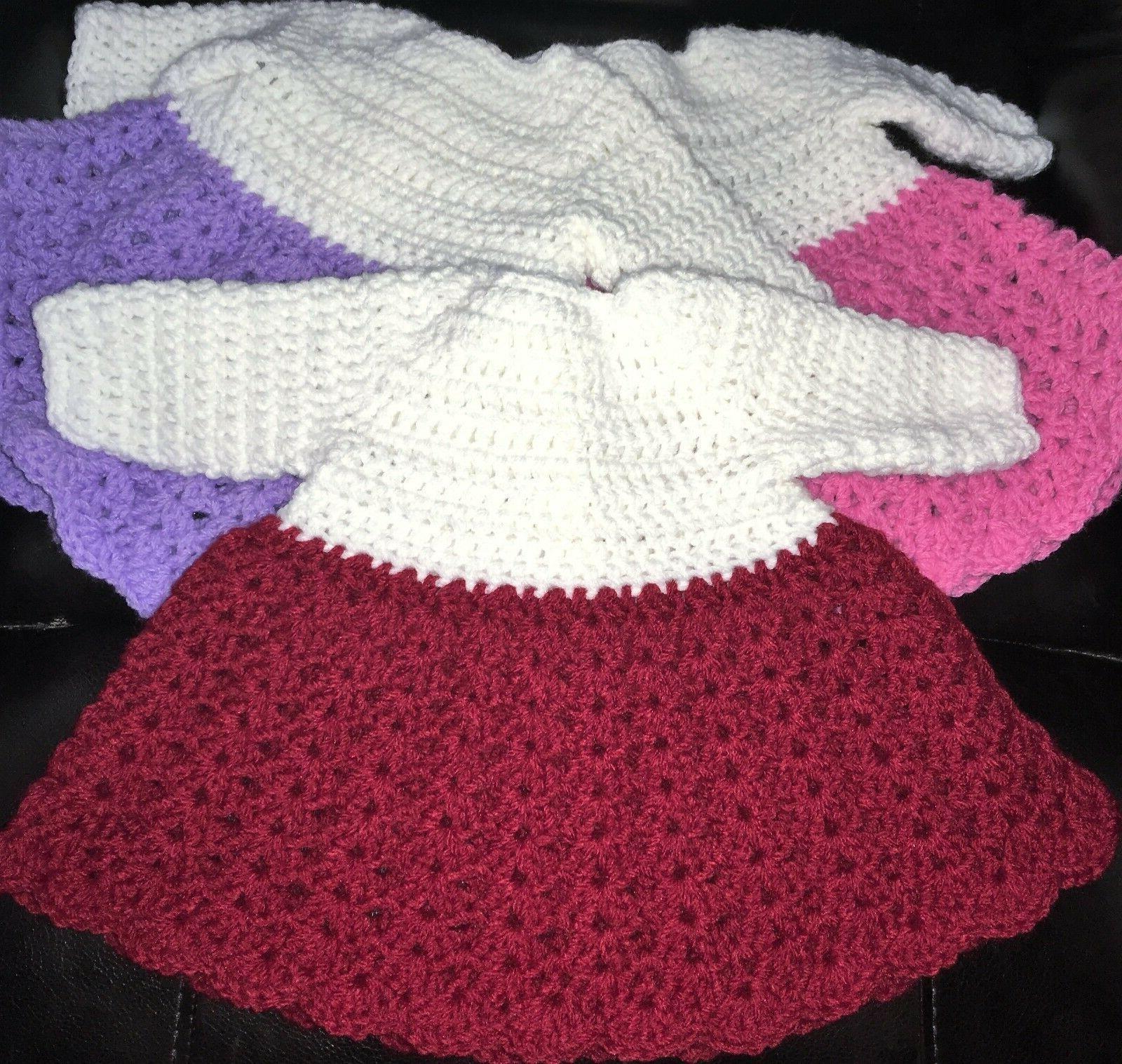 Acrylic Handmade Dress PREEMIE lbs. or Doll,
