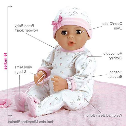 Adora Baby 16 Vinyl Girl Newborn Weighted Soft Cuddle Body Gift with Close 3 Year and