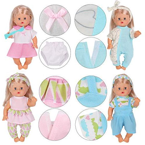 10pcs for 10-11-12 Baby Doll Reborn Newborn Accessories Gown Schoolbag Toy Gift-wrap