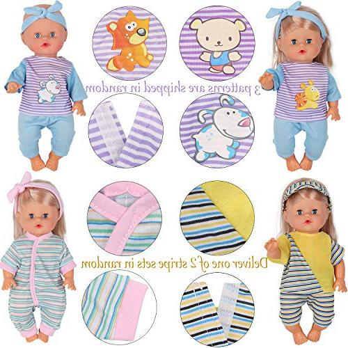 10pcs for 10-11-12 Inch Reborn Newborn Doll Gown Schoolbag Kitchen Xmas Gift-wrap