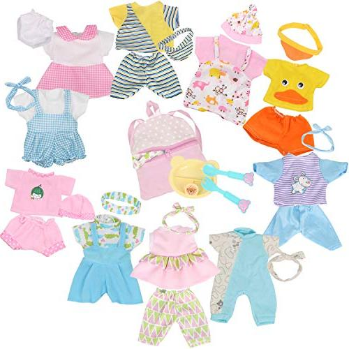 10pcs Baby Reborn Accessories Gown Costumes Schoolbag Gift-wrap