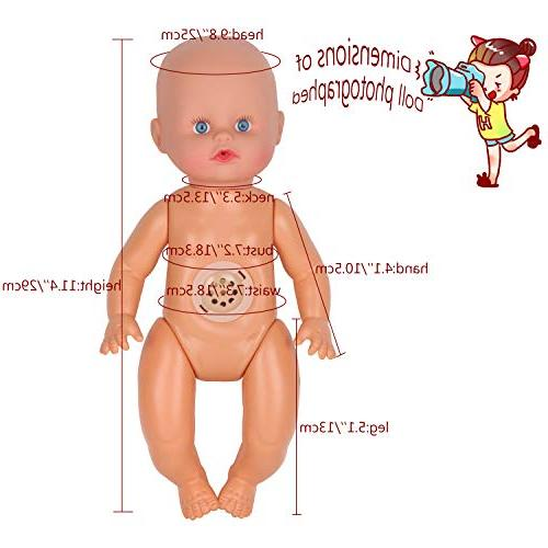 10pcs Baby Doll Clothes Dress Reborn Doll Gown Outfits Schoolbag Gift-wrap