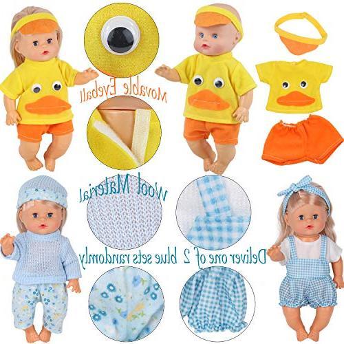 10pcs 10-11-12 Inch Baby Reborn Newborn Gown Schoolbag Kitchen Toy Gift-wrap