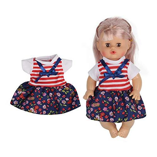 Huang 5 PCS Alive Doll Reborn Newborn Clothes Dress for 12 Inch Alive with