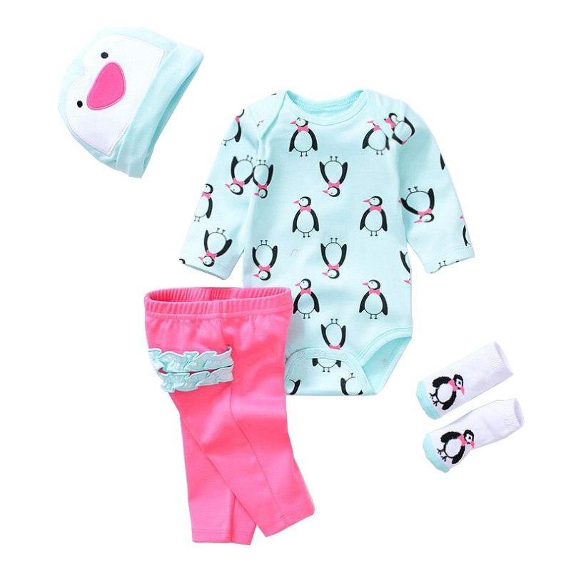 All Cotton <font><b>Clothes</b></font> Baby Fit 18-23 45-58cm Reborn Baby Dress#E