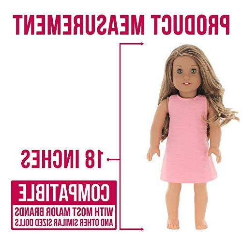 PZAS Toys Doll Dress Pack of 18 American Girl Doll Clothes and Accessories
