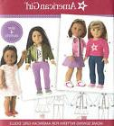 """18"""" AMERICAN GIRL DOLL Modern Clothes Simplicity 8484 UNCUT"""