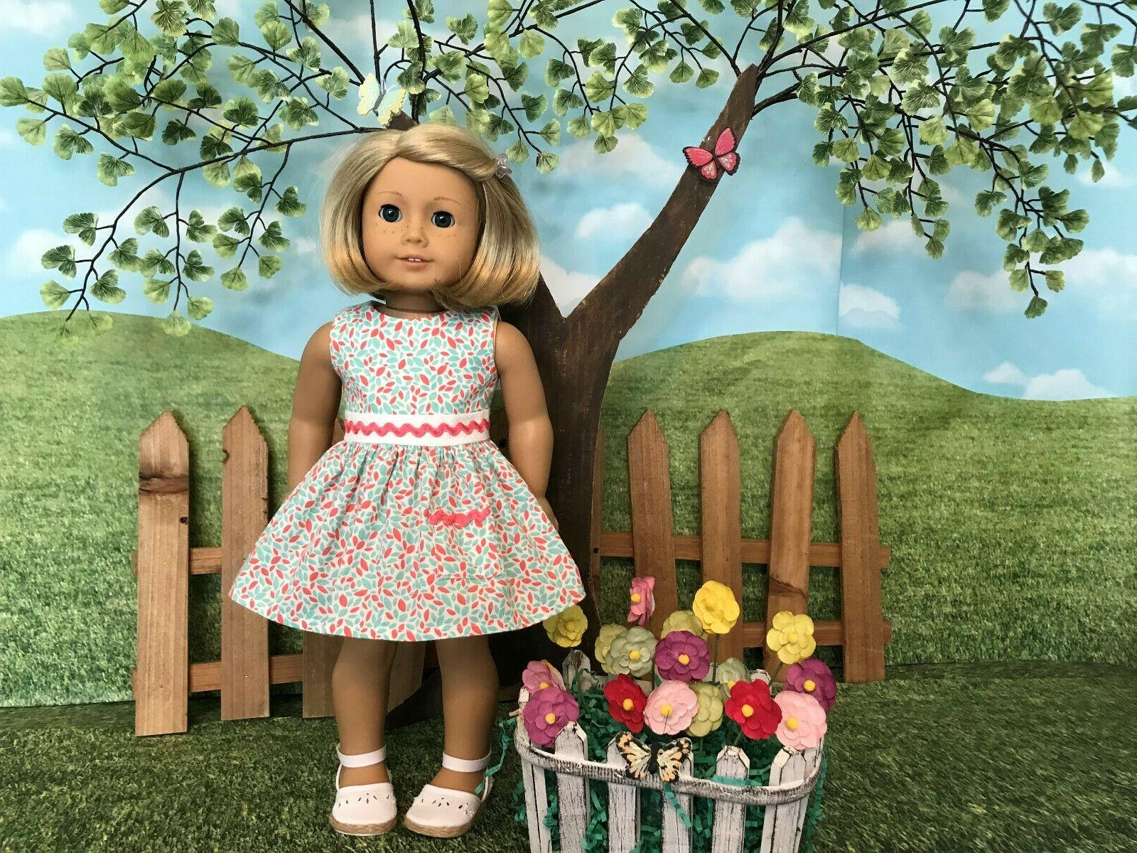 American Girl fitting spring/summer dress, inch clothes