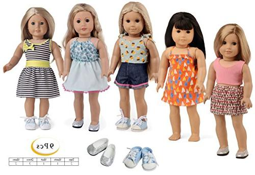 sweet dolly Doll Clothes Girl, Shoes