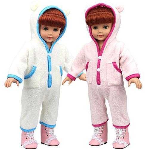 AMOFINY Cute Baby Doll Clothes Custom Pajamas For 18 Inch
