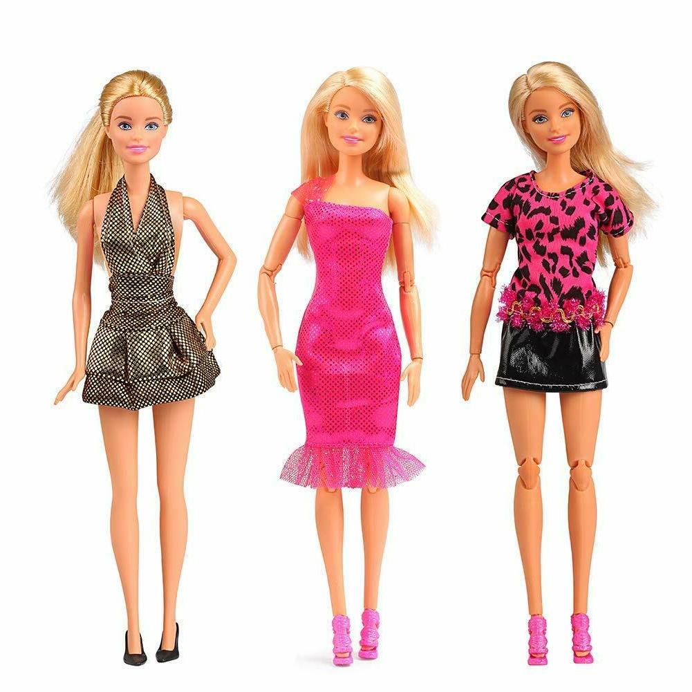 Ba-Girl Fashion Dolls Clothes Accessories Barbie Outfit Dress