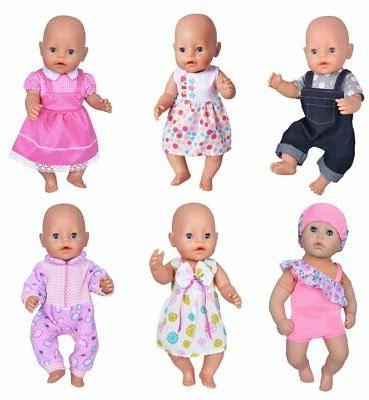 Baby Alive Cothes ebuddy 6 Sets Doll Clothes