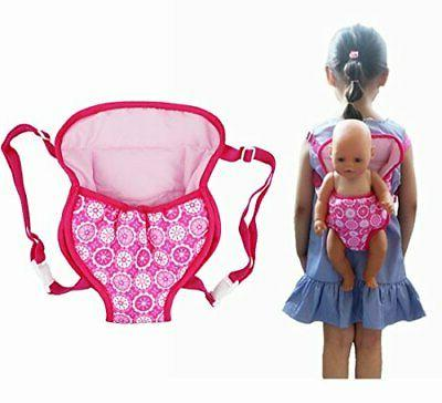 XADP Baby Doll Carrier Backpack Doll Accessories Front and B