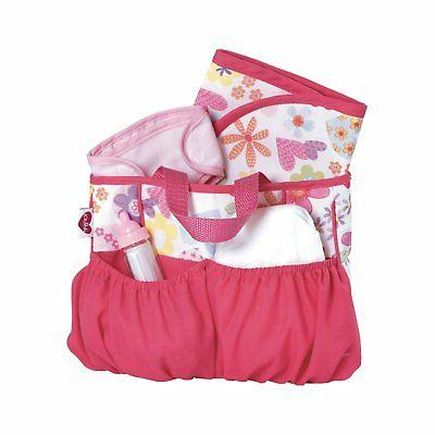 Adora Baby Doll Diaper Bag  Accessories with 5-Piece Changin
