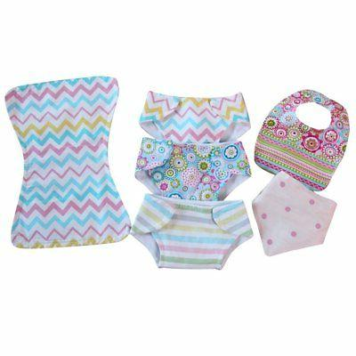 Baby Doll Diaper Bib Burp Set