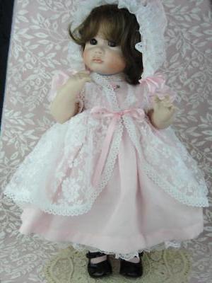 Baby Toddler Doll CLOTHES - DRESS  BONNET  SHOES for Antique