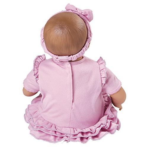 "Adora BabyTime 16"" Girl Piece Play for Toddlers Bottle & Snuggle Soft Huggable"
