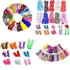 """11"""" Barbie Doll Clothes + Shoes Handmade Short Dress Party G"""