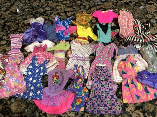 barbie doll clothes lot dresses