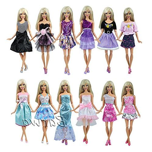 Barwa Clothes Barbie and Color of 12pcs