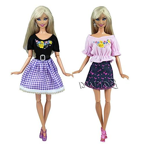 Barwa Fashion Dresses Clothes Barbie Doll and Pack of